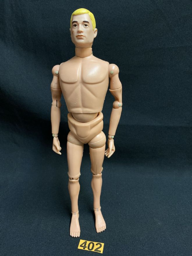 ACTION MAN -  Blonde Painted Head Nude Figure Ref 402